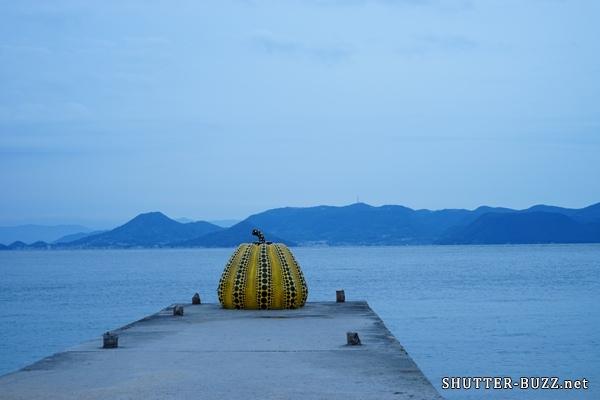 黄色いカボチャ。アートな直島のシンボル