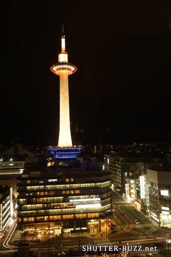 京都タワーを長時間露光撮影