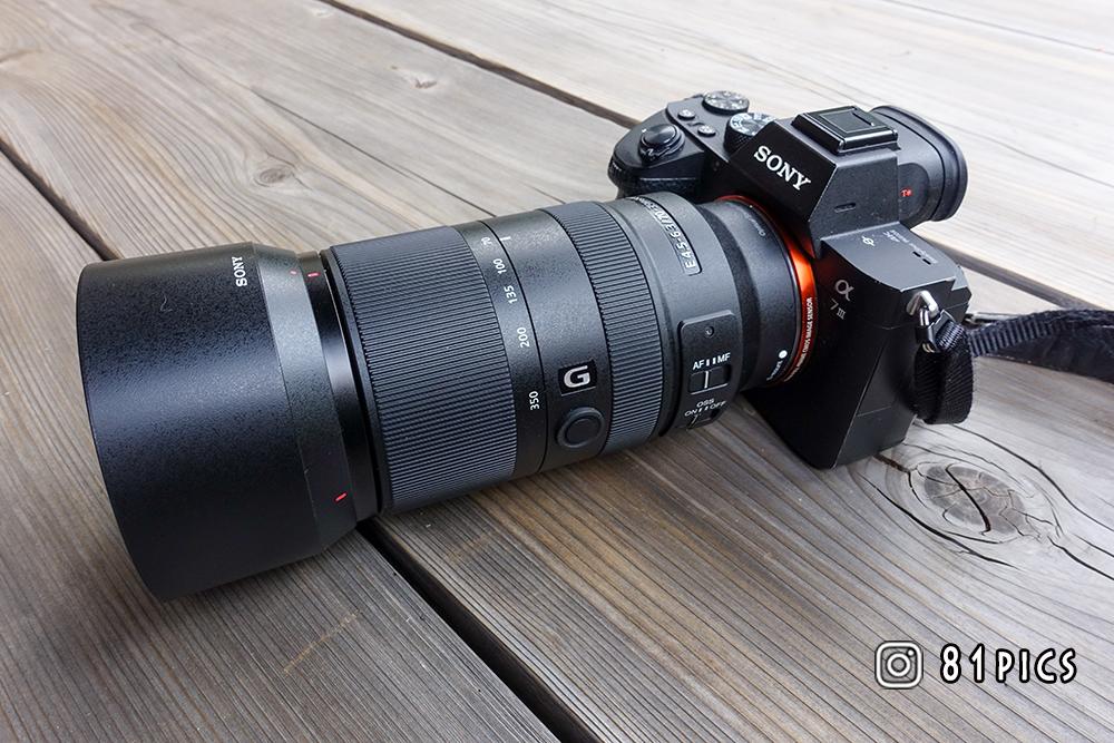 フルサイズ機SONY α7ⅢにAPS-C専用レンズSEL70350Gを装着